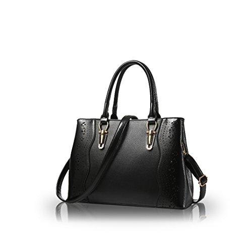 Nicole&Doris Signore / Donne / borsa tracolla donna(Rose) nero