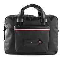 Tommy Hilfiger Modern Nylon Conv Computer Backpack, Black, AM0AM05566