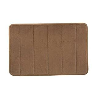 Li Jian Limited company Absorbent water bath floor mat memory sponge shower mat non-slip doormat grey bedroom kitchen rug (Color : Brown, Size : 60 * 90cm)