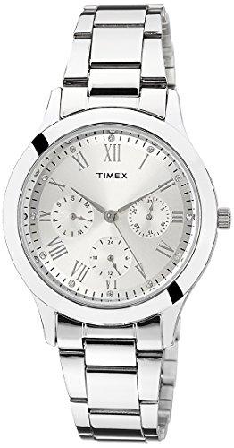 41lwD GZbXL - Timex TW000Q806 Silver Women watch