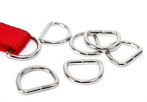 D-Ringe 25 Stück 10x9x2,1mm Halbrundringe Stahl