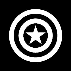 Capitán América vinilo sticker| coches Camiones Furgonetas Paredes portátil |white| 4,5en vinilo | kcd277