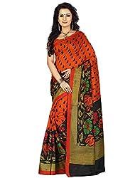 Buyonn Women's Cotton Silk Saree (SAREES10_Multi-Coloured)