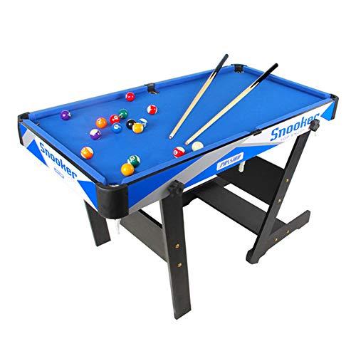 Billard Table Faltungspool Steady Modern Space Saving Billard Table Game für Kinder und Erwachsene mit Cues, Ball, Kreide, Rack, Pinsel Inklusive Blau