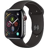 AppleWatch Series4 (GPS + Cellular) cassa 44mm in acciaio inossidabile nero siderale ecinturino Sport nero