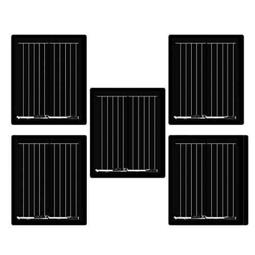 Fenteer 5pcs Kleine Solarpanel Solarmodul Solarzelle Polykristallin DIY Solarpanel