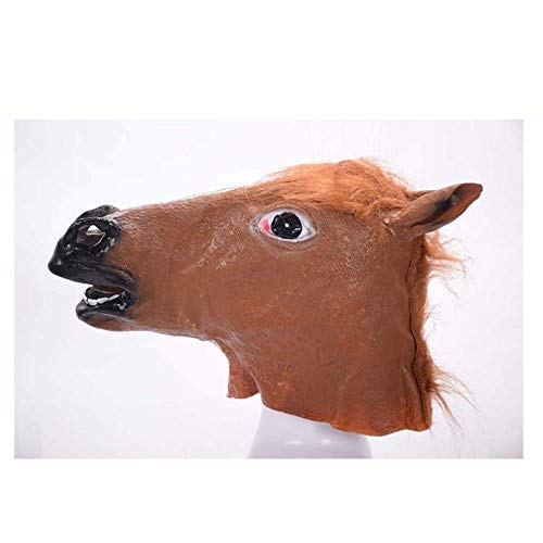Xiao-masken Neuheit Creepy Horse Halloween Kopf Latex Kostüm Theater Prop Party Maske Cosplay