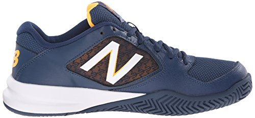 New Balance Men's 696v2 Lightweight Tennis Shoe Navy/White/Impulse