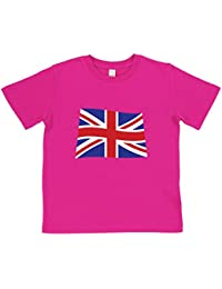 Kids' Union Jack T-Shirt | Blue or Pink | Organic Cotton | By Paw Prints