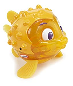 little tikes 173844GR Sparkle Bay Flicker Puffer Fish - Balancín