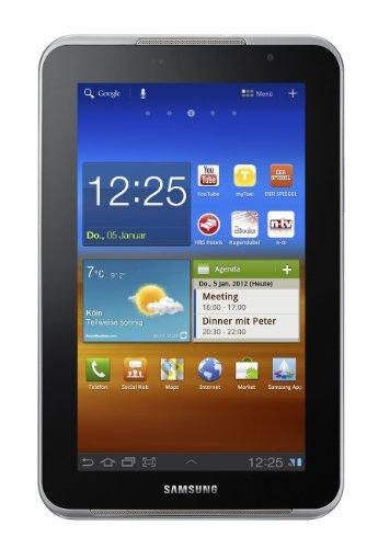 Samsung Galaxy Tab P6201 7.0 Plus N Tablet (17,8 cm (7 Zoll) PLS Touchscreen, 1,2GHz Dual Core Prozessor, 1GB RAM, 16GB Speicher, Android 3.2, UMTS) weiß