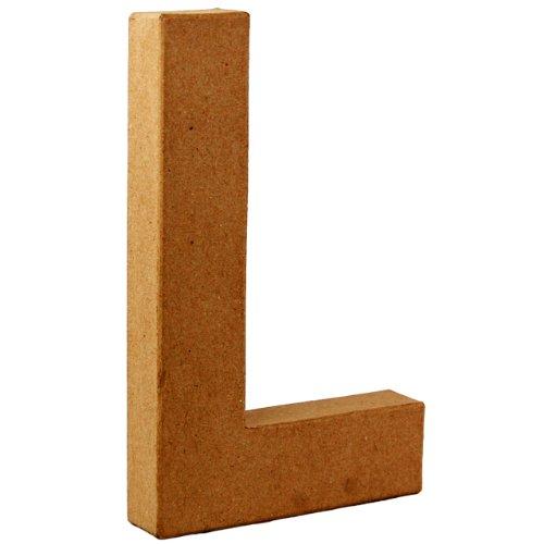 Country Love Crafts Pappmaché-Dekoelement 3D Buchstabe L 20,5cm Pappmaché -