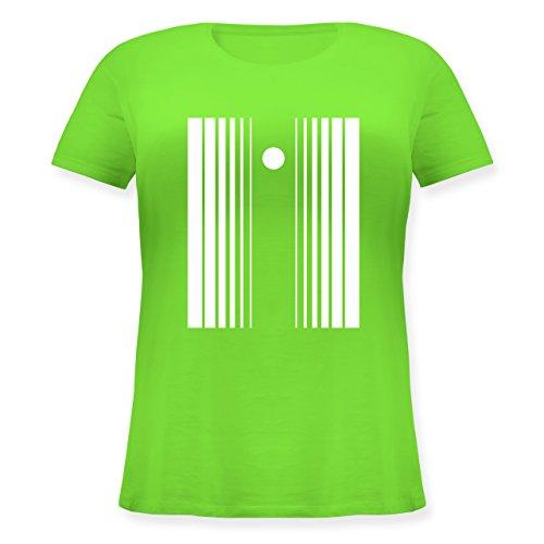 Karneval & Fasching - Doppler Effekt - L (48) - Hellgrün - JHK601 - Lockeres Damen-Shirt in großen Größen mit Rundhalsausschnitt (Damen Doppler Effekt Kostüm)