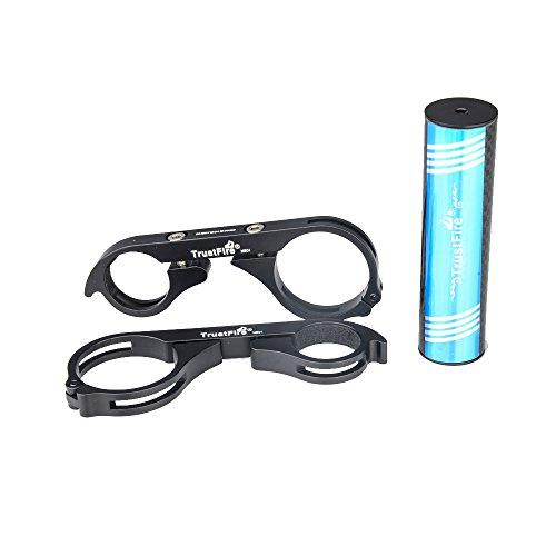 Lixada Bicycle Doppel Extender Carbon MTB Lenker Lampen Halter für Fahrradbeleuchtung Taschenlampen mit Innensechskantschlüssel