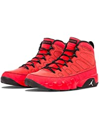 buy popular 99f91 e1094 NIKE Mens Air Jordan 9 Retro Motorboat Jones Challenge Red White-Black  Suede Size