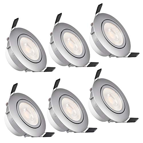 WZTO Foco Empotrable LED Techo, GU10 LED 5W 3000K 480Lumen Ángulo Rotable...