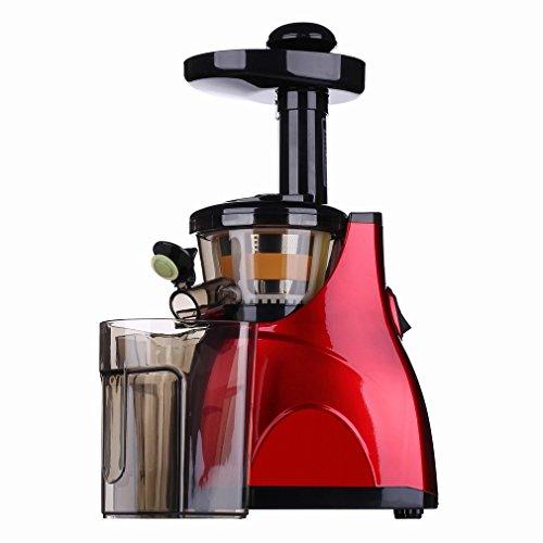 H Juicer Saftige Maschine AutomatiscMultifunktions - Saftpresse Langsam - Schleifmaschine Low - Speed Babysaft Entsafter Entsafter,Rot,28 * 18 * 45cm