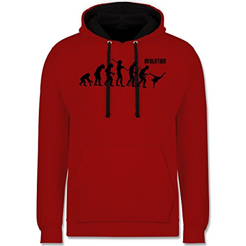 Evolution - Breakdance Evolution - Kontrast Hoodie Rot/Schwarz