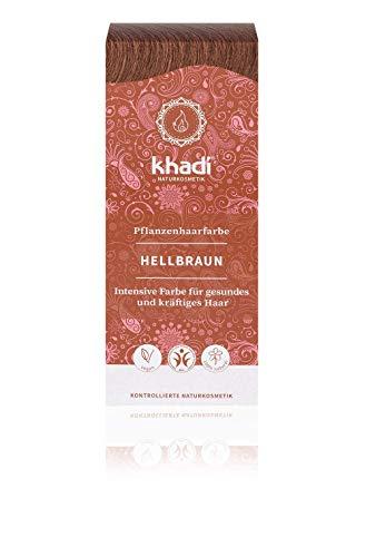 khadi Pflanzenhaarfarbe Hellbraun 100g I Haarfarbe Braun mit Henna und Amla I Naturhaarfarbe 100{1fd51cc7e87718316f0c1aacd92d8c382a518cfb7defc68808205366c86e00ef} natürlich und vegan
