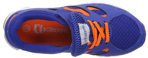 Kappa Fox K Footwear Kids, Synthetic/Mesh, Baskets mode mixte enfant Bleu - Blau (6044 blue/orange)