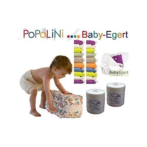 Popolini KOMPLETT-SET OneSize RAINBOW -- Limited Edition WindelSet -- XXL Set inkl. Stoffwindeln, Überhosen, Windelvlies und mehr