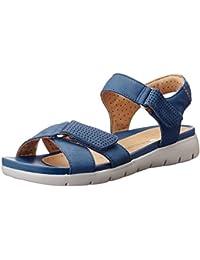 Clarks Women's Un Saffron Leather Flip-Flops Other - House Slippers