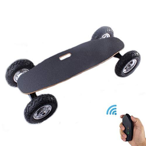 Off-Road Elektro-Skateboard, Außen Extreme Sport Cruiser Mountain mit Fernbedienung, 25 MPH Höchstgeschwindigkeit, 9,3 Meilen Max Range, 1800W Motor, Double Drive Four Wheel Longboard