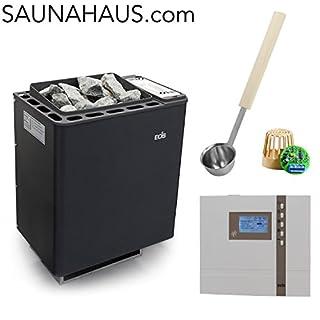 Saunaofen EOS Bi-O-Thermat incl. Econ H3 Saunasteuergeraet Bio EOS, inkl. Feuchterfüller EOS F2 und exklusive Edelstahl-Saunakelle von ARTVION (9.0 kW)