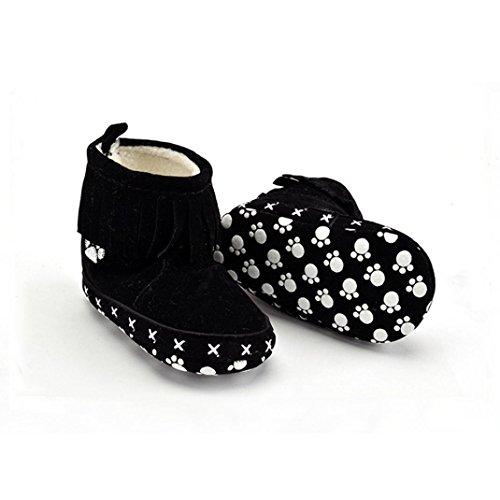 Clode® Baby Cotton weiche Sohle Snow Boots Soft-Krippe Schuhe Kleinkind Stiefel Schwarz