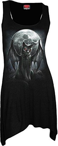 Vamp Kleid (Spiral Vamp Cat Long Shirt Mini Kleid Gothic)