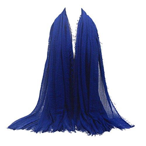 Ansenesna Prämie Viskose Maxi Crinkle Wolke Hijab Schal Schal Soft Islam Muslime (N)