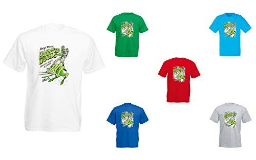 Brand88 - Daryl Dixon's Haunted Woods, Mens Printed T-Shirt