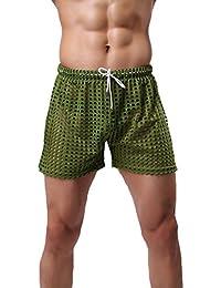 Tenchif Survêtement Boxer Boxer Beach Short de Bain pour Homme avec Cordon de Serrage Maillots de bain Shorts de bain