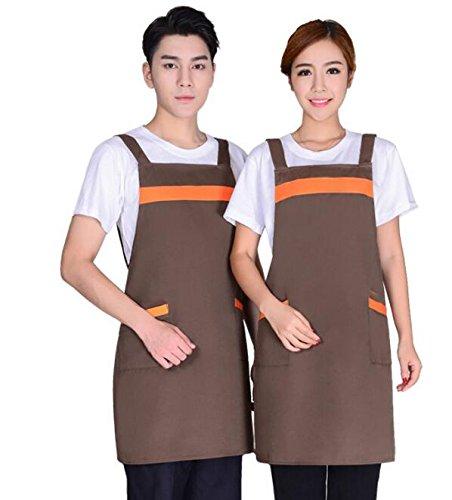 Driverder Große Schürze Küche liefert Arbeitsschürze für Erwachsene mit 2 Taschen Kochschürze für Zuhause (Kaffee)