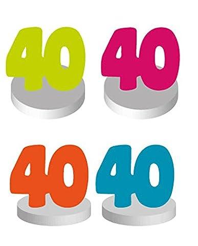 Chaks 20004, Set de 4 Marque-places Anniversaire 40 ans (promo OFF)