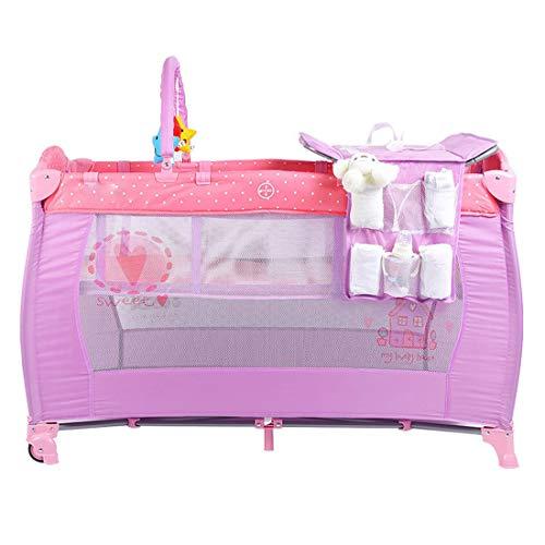 RZJ-Puzzle Pack and Play Krippe Baby Bettwäsche wasserdichte Stoßstange Tröster Junge Mädchen Bettwäsche-Sets Pink Sheet Dinosaur Set Boys Elephant -