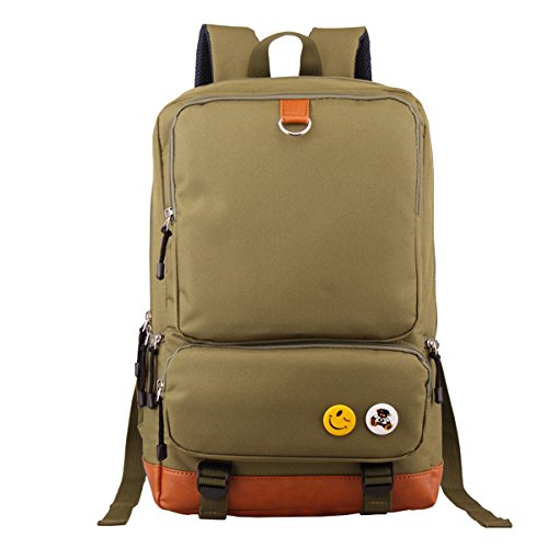 """Butterme Unisex Segeltuch -Rucksack-Rucksack-Schulwandertasche Schultasche College-Tasche passt 15.6 """"Laptop Armeegrün"""
