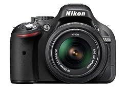 Nikon D5200 24.1MP Digital SLR Camera (Black) with AF-S 18-55 mm VR Kit Lens, Memory Card, Camera Bag