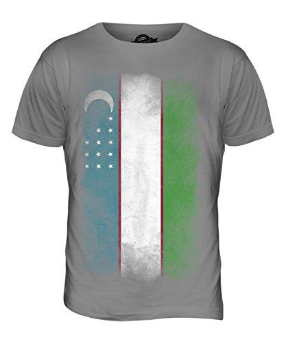 CandyMix Usbekistan Verblichen Flagge Herren T Shirt Hellgrau
