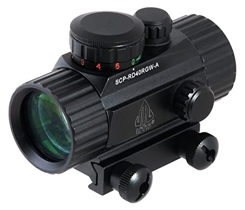 UTG New GEN 4 Zoll Dot Sight With Integral Picatinny Mounting Deck, Schwarz, SCP-RD40RGW-A