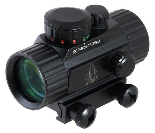 UTG SCP-RD40RGW-A New GEN Viseur à point lumineux avec pont de montage intégral Picatinny Noir