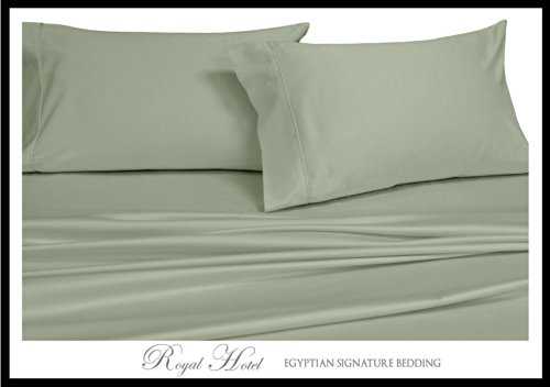 Royal Hotel 's 8pc massiv Salbei california-king Größe bed-in-a-bag Gänsedaunen Tröster Set Fadendichte 300 100% Rayon aus Bambus