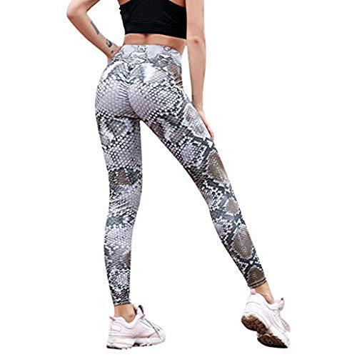 Elsta Jogginghose Damen Schlange Hautdruck Skinnyhose Legging Slim Gedruckt Sport Yoga Workout Gym Fitness Übung Hosen Lange Hosen Strumpfhose Yoga Pilates Hosen