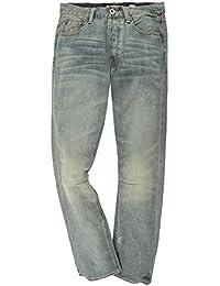 Christian Audigier Premium Hommes Jeans Bleu clair Beach Boys M22083LD
