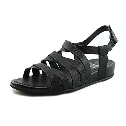 Sandalias De Gladiador De Cuero Fitflop Lumy Negras