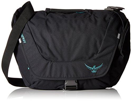 Osprey Flap Jill Courier Womens Messenger Bag Black (Bag Messenger Courier)