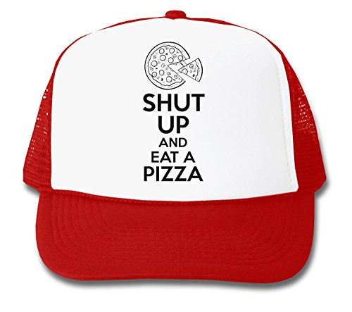 ShutUp and Eat A Pizza Trucker Cap