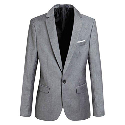Männer 4 Farben Blazer Slim Fit Anzug Jacke Männer Stilvolle One Button Blazer Leichte Casual Anzüge Mantel XS-XXXXL