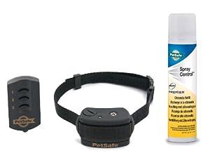 PetSafe - Collier de Dressage à Spray Facile d'utilisation avec Télécomande pour Chien, Portée de 85 mètres, Avec Bip et Vaporisation, Léger et Imperméable - Petit, Moyen et Gros Chiens