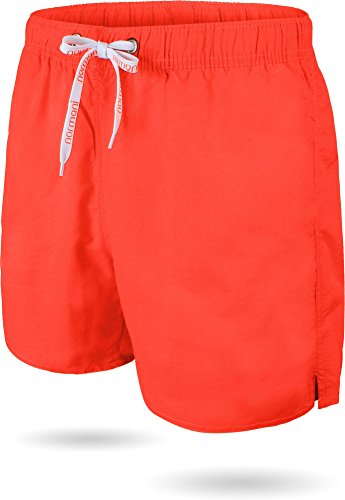normani Herren Sport Badehose Badeshort Surfshort in Größe S-XXL Farbe Orange Größe L